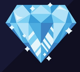 BACKED WITH DIAMOND